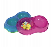 Pet Brand Translucent Supper Bowls Double Dish For Dog - 0.325 lt