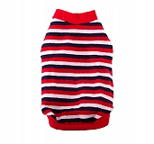 DogSpot White, Red And Navy Stripe Sweater size - 14