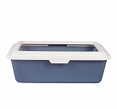 CatSpot Premium Cat Litter Tray With Lid - Grey - (LxBXH - 18 x15x6 inches)