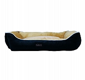 DogSpot Lounger Bed Black & Yellow- Small - (LxWxH - 24x15x8 Inches)