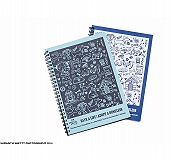 Precious Paws Spiral Notebook Dog  - Black And Light Blue