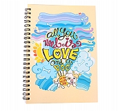 HUFT All You Need Is Love And A Dog Spiral Notebook - Small