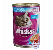 Whiskas Cat Can Food Tuna In Jelly - 400 gm (Pack Of 3)