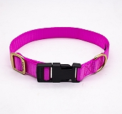 Forfurs Adjustable Classic Dog Collar Hot Pink - Medium