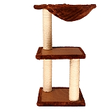 CatSpot Mosaic Cat Tree With Hammock (LxBxH - 12.5x12.5x24.4) Inches