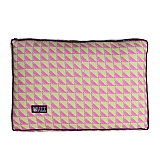 Mutt Of Course Water Color Pink & Green Flat Bed - Large