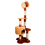PetSpot Condo With Tunnel Lounger Cat Tree (LxBxH - 17.7x17.7x54.7) Inches