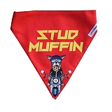 LANA Paws Stud Muffin Adjustable Bandana -Medium & Large