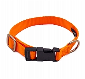 Forfurs Adjustable Classic Dog Collar Neon Orange - Small