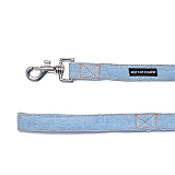 Mutt Of Course Stud Muffin Light Denim Leash - Large