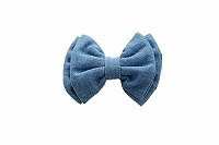 Mutt of Course Light Denim Bow Tie- Large