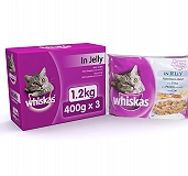 Whiskas Adult Cat Food In Jelly Multi Pouches - 400 gm (Pack Of 3)