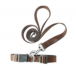 DogSpot  Leash & Collar Set Brown - Large