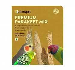 PetSpot Premium Parakeet Mix - 400 gm