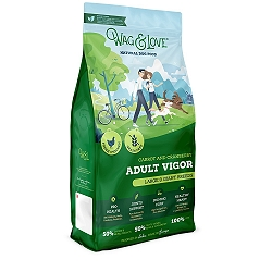 Wag & Love Grain Free Adult Vigor Large & Giant Breed Chicken, Carrot & Cranberry - 12 Kg