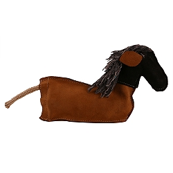 DogSpot Dura Fused Leather Crackle Horse Dog Toy