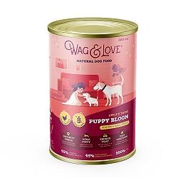 Wag & Love Grain Free Puppy Bloom Starter Small & Medium Breed Chicken, Apple & Thyme - 800 gm