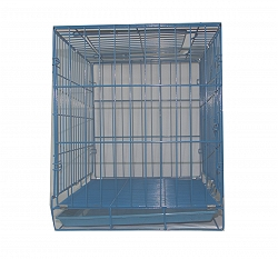 Dog Cage Medium - (LxBxH - 35x23.5x27)  Blue