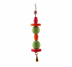 BirdSpot Chunky Wood Ball & Disc Bell Bird Toy
