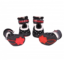 Dogspot Soft Cotton Shoes Black Size -2