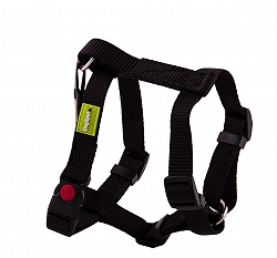 DogSpot Premium Harness Black 20 mm - Medium