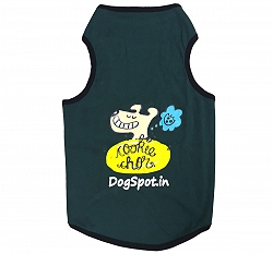 DogSpot Cookie Chor Dog T- Shirt -Size 10