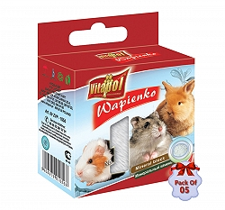 Vitapol Mineral Block For Rodents - Natural -40 gm (Pack Of 5)