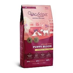 Wag & Love Grain Free Puppy Bloom Starter Small & Medium Breed Chicken, Apple & Thyme - 3.5 Kg