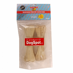 DogSpot Rawhide Bones 8 Inches - 2 pieces