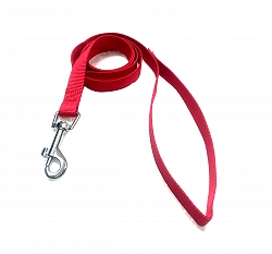 DogSpot Premium Nylon Leash Red 15 mm - Small