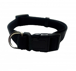 DogSpot Premium Adjustable Nylon Collar Black 15 mm - Small