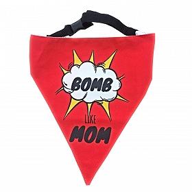 LANA Paws Bomb Like Mom Adjustable Bandana  -Small & Medium