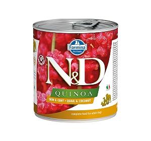 Farmina N&D Wet Dog Food Grain Free Quinoa Skin & Coat Quail & Coconut Adult - 285 gm (6 Cans)
