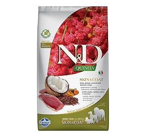 Farmina N&D Dry Dog Food Grain Free Quinoa Skin & Coat Duck Adult - 2.5 Kg (Pack Of 4)