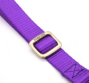 Forfurs Adjustable Classic Dog Collar Ultra Violet - large