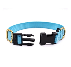 Forfurs Adjustable Classic Dog Collar Cocktail Blue - large