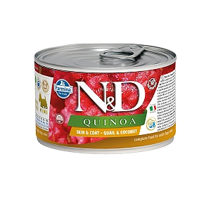 Farmina N&D Wet Dog Food Grain Free Quinoa Skin & Coat Quail & Coconut Mini Adult - 140 gm (6 Cans)