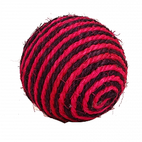CatSpot Sisal Colored Scratch Ball  - 4 Inches