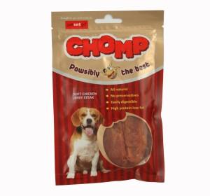 Soft Chicken Jerky Steak Dog Treat Chomp