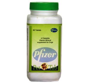 Pet n Tab Vitamin Mineral Dog Supplement Pfizer - 60 Tabs