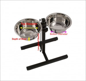 Adjustable Dog Bowl Set Medium