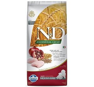Farmina N&D Dry Dog Food Chicken & Pomegranate Puppy Medium & Maxi Breed - 12 Kg