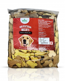 Basil Non-Veg Adult Dog Biscuit - 900 gm