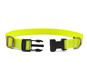 Forfurs Adjustable Classic Dog Collar Lime Green - large