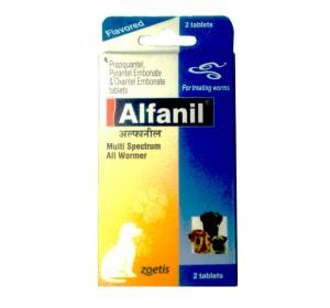 Alfanil Dewormer For Dog - 2 Tablets