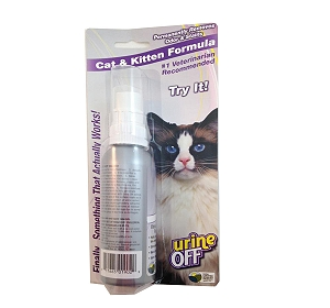 Urine Off Cat & Kitten Stain & Odour Remover - 118 ml (Pack Of 3)