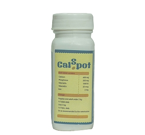 CalSpot Calcium Supplement For Dog - 60 Tablets