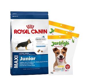 Royal Canin Maxi Junior - 15 Kg with Treats