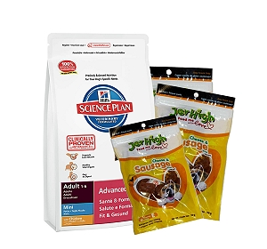 Hills Science Plan Adult Mini Breed Chicken - 1 Kg with Treats