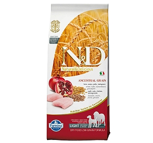 Farmina N&D Dry Dog Food Chicken & Pomegranate Adult Light Medium & Maxi Breed - 12 Kg